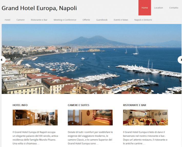 Portfolio : Grand Hotel Europa, Naples (home top)