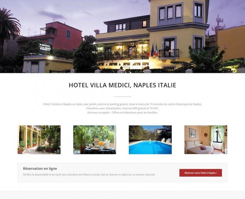 Portfolio Hotel Villa Medici : accueil top