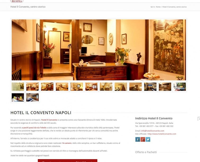 Portfolio : Sea Hotels, Naples (page)
