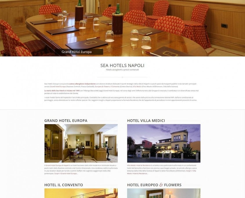 Portfolio : Sea Hotels, Naples (Top)