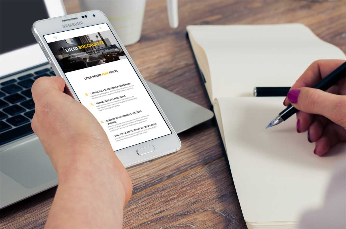 Portfolio : Consultant hotellerie (iphone)